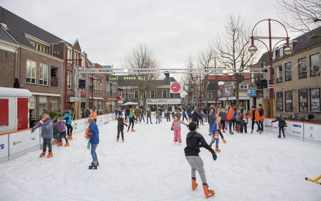 De markt rondom de ijsbaan